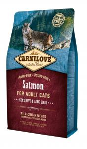 Carnilove Cat Adult Lazac – Sensitive & Long Hair 2kg