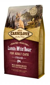 Carnilove Cat Adult Bárány & vaddisznó – Sterilised 2kg