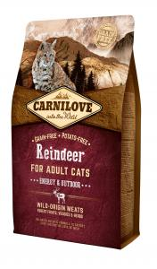 Carnilove Cat Adult Rénszarvas – Energy & Outdoor 2kg