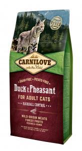 Carnilove Cat Adult Kacsa & fácán – Hairball Control 6kg