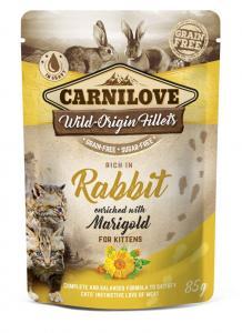 CARNILOVE CAT TASAKOS RABBIT WITH MARIGOLD - NYÚL KÖRÖMVIRÁGGAL 85G