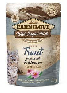CARNILOVE CAT TASAKOS TROUT WITH ECHINACEA - PISZTRÁNG ECHINACEÁVAL 85G