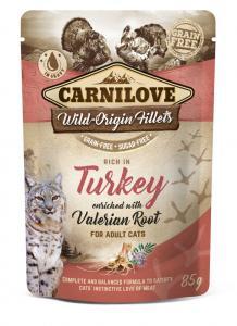 CARNILOVE CAT TASAKOS TURKEY WITH VALERIAN - PULYKA MACSKAGYÖKÉRREL 85G