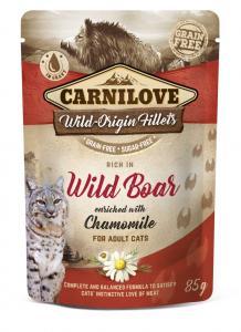 CARNILOVE CAT TASAKOS WILD BOAR WITH CHAMOMILE - VADDISZNÓ KAMILLÁVAL 85G