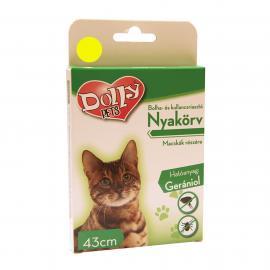 Dolly Natural Bolha és kullancsriasztó nyakörv macskák részére sárga 43cm
