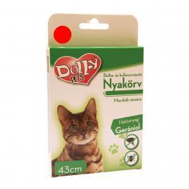 Dolly Natural Bolha és kullancsriasztó nyakörv macskák részére piros 43cm