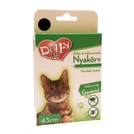 Dolly Natural Bolha és kullancsriasztó nyakörv macskák részére fekete 43cm