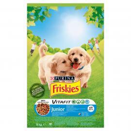 FRISKIES Junior Csirkével, hozzáadott zöldségekkel és tejjel száraz kutyaeledel 8kg