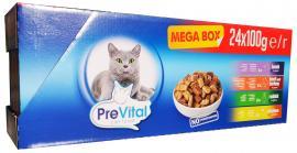 Prevital Mega box macskaeledel tasakos 100g 24 db-os