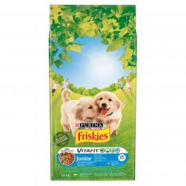 FRISKIES Junior Csirkével, hozzáadott zöldségekkel és tejjel száraz kutyaeledel 15kg