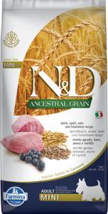N&D DOG ANCESTRAL GRAIN BÁRÁNY, TÖNKÖLY, ZAB&ÁFONYA ADULT MINI 7KG