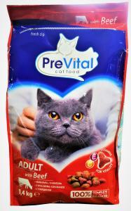 Previtál macskatáp 1,4 kg marha