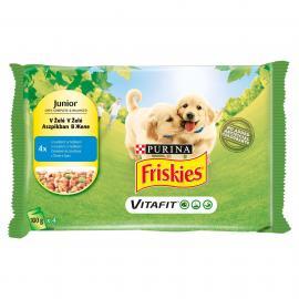 FRISKIES Junior Aszpikos válogatás nedves kutyaeledel 4x100g