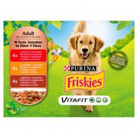 FRISKIES Szószos válogatás nedves kutyaeledel 12x100g
