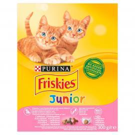 FRISKIES Junior Csirkével, tejjel és hozzáadott zöldségekkel száraz macskaeledel 300g