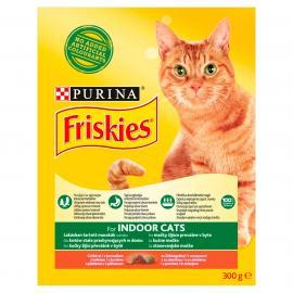FRISKIES Indoor Csirkével és hozzáadott kerti zöldségekkel száraz macskaeledel 300g