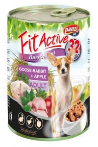 FitActive Adult - nedveseledel (liba,nyúl,alma) felnőtt kutyák részére (415g)