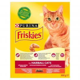 FRISKIES Hairball Formula Csirkével és hozzáadott zöldségekkel száraz macskaeledel 300g