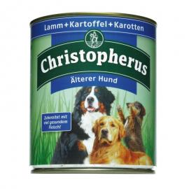 Christopherus Dog konzerv Senior Bárány, burgonya és sárgarépa 800g