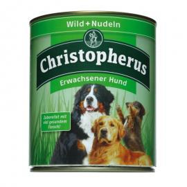 Christopherus Dog konzerv Adult Vadhús és tészta 800g