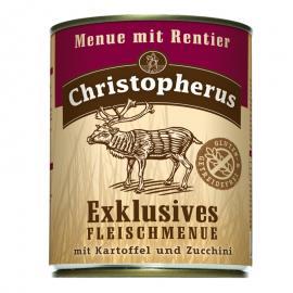 Christopherus Dog konzerv Adult Exclusive húsmenü rénszarvassal 800g